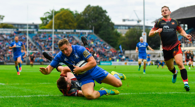 Leinster crack 50-point mark as stars turn on the style at the RDS in comprehensive win over the Dragons