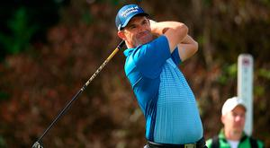 SPIJK, NETHERLANDS - SEPTEMBER 15: Padraig Harrington of Ireland in action during day three of the KLM Open at The Dutch on September 15, 2018 in Spijk, Netherlands. (Photo by Jan Kruger/Getty Images)