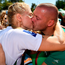 16 September 2018; Sanita Puspure of Ireland receives a kiss from her husband Kaspar Puspure after winning the Women's Single Sculls Final on day eight of the World Rowing Championships in Plovdiv, Bulgaria. Photo by Seb Daly/Sportsfile
