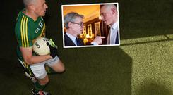 Kieran Donaghy and (inset) with Joe Brolly