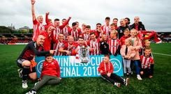 Derry celebrate EA SPORTS Cup glory