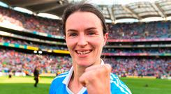 Double delight: Captain Sinead Aherne. Photo by Eóin Noonan/Sportsfile