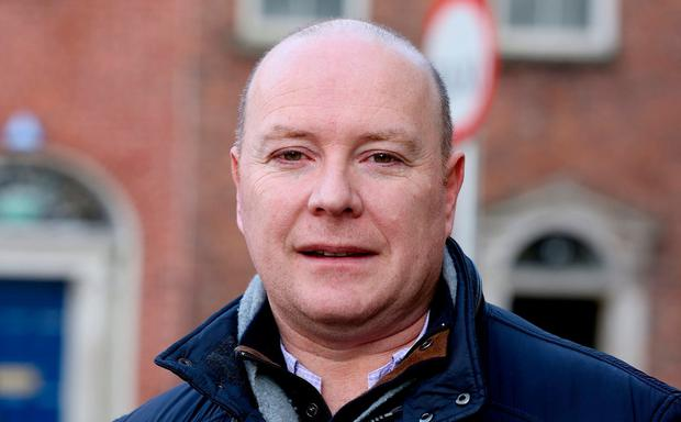 Hustings: Austin Stack called on people to challenge Liadh Ní Riada. Photo: Tom Burke