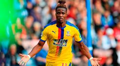Zaha: Unhappy with officials. Photo credit: Mike Egerton/PA Wire