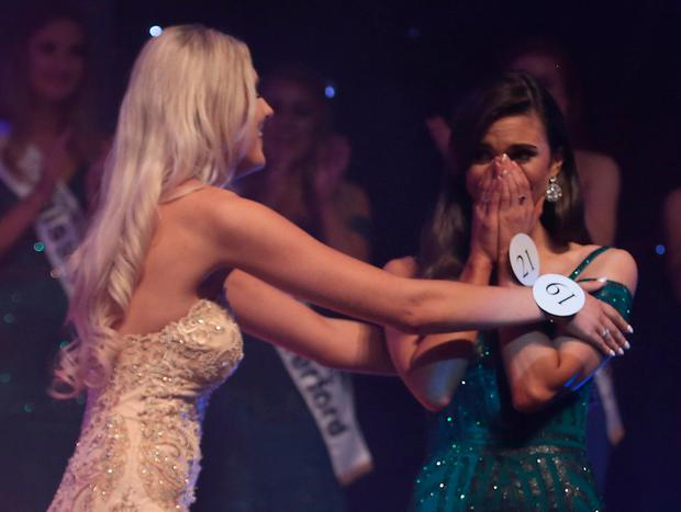Aoife O'Sullivan is crowned Miss Ireland 2018 at the Helix Theatre, Dublin