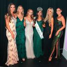 Aoife O'Sullivan with former Miss Irelands Lauren McDonagh, Sacha Livingstone, Aoife Walsh, Rosanna Davison and Rebecca Maguire