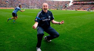 FAMOUS DAY: Pat Gilroy, when football boss, celebrates victory over Kerry in the 2011 All-Ireland SFC Final at Croke Park. Photo: SPORTSFILE