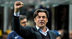 Nicola Berti acknowledges the Inter Milan supporters. Photo: Getty Images