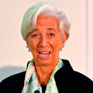 Warning: IMF managing director Christine Lagarde in London yesterday. Picture: AFP