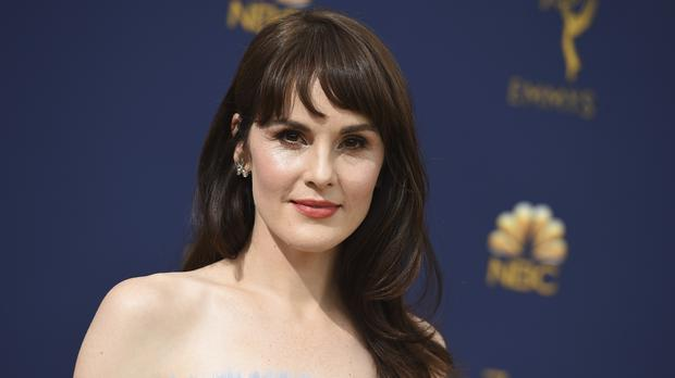 Michelle Dockery was among the stars pictured arriving at the Emmys (Jordan Strauss/Invision/AP)