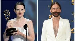 Claire Foy was reportedly saved by Jonathan Van Ness (AP Images/PA)