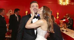 Justin Timberlake and Jessica Biel were on top form on social media (John Salangsang/Invision for the Television Academy/AP Images)