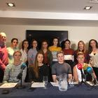 The departed Mayo players spoke to the media last night Pic: @SineadKissane