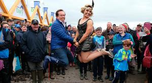 RTEs, Marty Morrissey and Dancing with the Stars Anna Geary, during the National Ploughing Championships