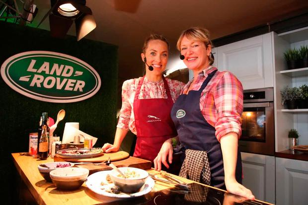 Kathryn Thomas and Rachel Allen at the National Ploughing Championships