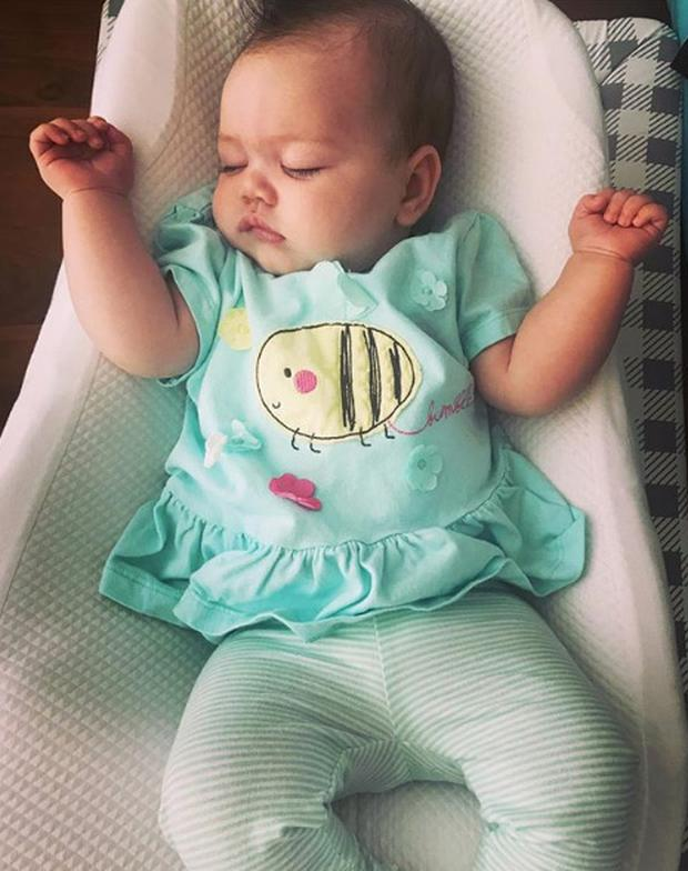 Kathryn Thomas's baby daughter Ellie