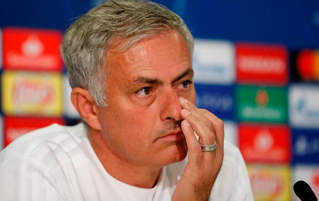 Manchester United manager Jose Mourinho during the press conference Action Images via Reuters/Matthew Childs
