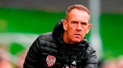 Derry City manager Kenny Shiels. Photo: Stephen McCarthy/Sportsfile