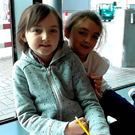 Robyn Smyth (left) and sister Millie at Dublin Airport.