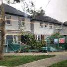 A tree collapsed on a house near Fine Gael TD Noel Rock's home this morning (Photo: Noel Rock Twitter)