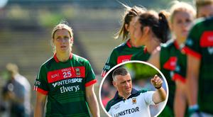 Cora Staunton was one of 12 Mayo players to walk out of panel and (inset) Peter Leahy