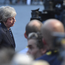 Theresa May answers questions when arriving at the informal EU summit in Salzburg (Kerstin Joensson/AP)