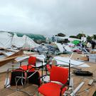 Scenes of devastation at the Ploughing. Photo: Gerry Mooney