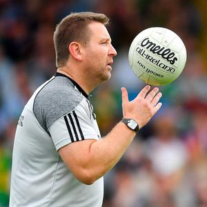 Vote of confidence: Cian O'Neill looks set for a two-year extension as manager of Kildare's senior footballers. Photo: Brendan Moran/Sportsfile