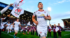 7 September 2018; John Cooney of Ulster ahead of the Guinness PRO14 Round 2 match between Ulster and Edinburgh at the Kingspan Stadium in Belfast. Photo by Ramsey Cardy/Sportsfile