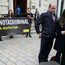 Solicitors Jemma Conlon (centre) and Stephen Chambers (left) with Grainne Teggart of Amnesty International speak to the media outside the High Court in Belfast where the court adjourned a judicial review taken by a mother who was prosecuted for securing abortion pills for her daughter. Brian Lawless/PA.