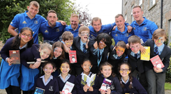 Leinster players launch the MS Ireland Readathon