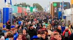 Official figures put the attendance on the first day in the region of 97,000, while yesterday's official attendance figures were announced as 81,500. Photo: Gerry Mooney