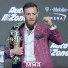 Conor McGregor in predictably colourful form as he stages his first press conference with Khabib Nurmagomedov