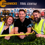 Philly McMahon with Sarah Bowes and Rory O'Donnell at the official launch of the new-look Chadwicks store in Sandyford, Dublin. Photo: Jason Clarke
