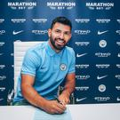Sergio Aguero has signed a contract extension with Manchester City. Image credit: Man City.