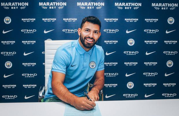 Aguero set for decade at City after signing 1-year extension