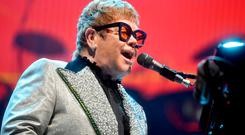 Elton John performs during his stop at the Bryce Jordan Center for part of his Farewell Yellow Brick Road Tour, Sunday, Sept. 16, 2018 in University Park, Pa. (Abby Drey/Centre Daily Times via AP)