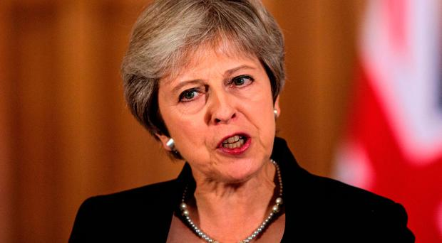 Prime Minister Theresa May speaking in Downing Street in the aftermath of the Salzburg summit, saying that the EU must respect the UK in Brexit talks Credit: Jack Taylor/PA Wire