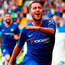 Chelsea's Eden Hazard celebrates after scoring one of his three goals against Cardiff last weekend,. Photo: Victoria Jones/PA