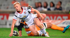 David Shanahan of Ulster scores his side's first try