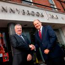 Joe Doyle, left, Owner of Donnybrook Fair; and Chris Martin, Musgrave CEO at Donnybrook Fair at Morehampton Road yesterday