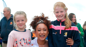 Kirsten Mate Maher with Orlaith (8), right, and Muirinn O'Shea (6)