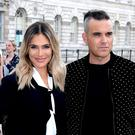 Robbie Williams and wife Ayda Field Williams (Ian West/PA)