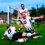 John Mountney (8) and Michael Duffy join in as Chris Shields celebrates after scoring for Dundalk at Turners Cross. Photo by Stephen McCarthy/Sportsfile