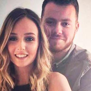 Storm victim: Matt Campbell and fiancée Robyn Newberry