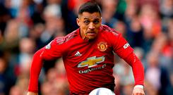06d9a52431a Manchester United s Alexis Sanchez in action yesterday