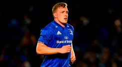 Dan Leavy of Leinster during the Guinness PRO14 Round 4 match between Leinster and Edinburgh at the RDS Arena in Dublin. Photo by Ramsey Cardy/Sportsfile