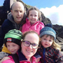 Jennifer Ui Dhubhgain and her husband with their three children Daithí (9), Síofra (7) and Oisín (3)