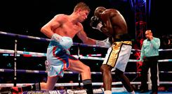 Campbell beat Yvan Mendy in a world title eliminator on the Anthony Joshua versus Alexander Povetkin undercard at London's Wembley Stadium on Saturday. Photo: Nick Potts/PA Wire
