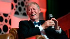 Recollections: Micheál O Muircheartaigh on stage talking about his life and times at the Clayton Hotel in Dublin. Picture: Domnick Walsh